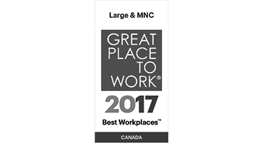 Great Place to Work 2017 Best Workplaces in Canada for Large & MNC award