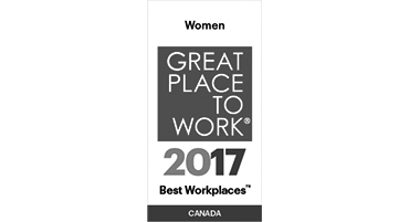 Great Place to Work 2017 Best Workplaces in Canada for women award