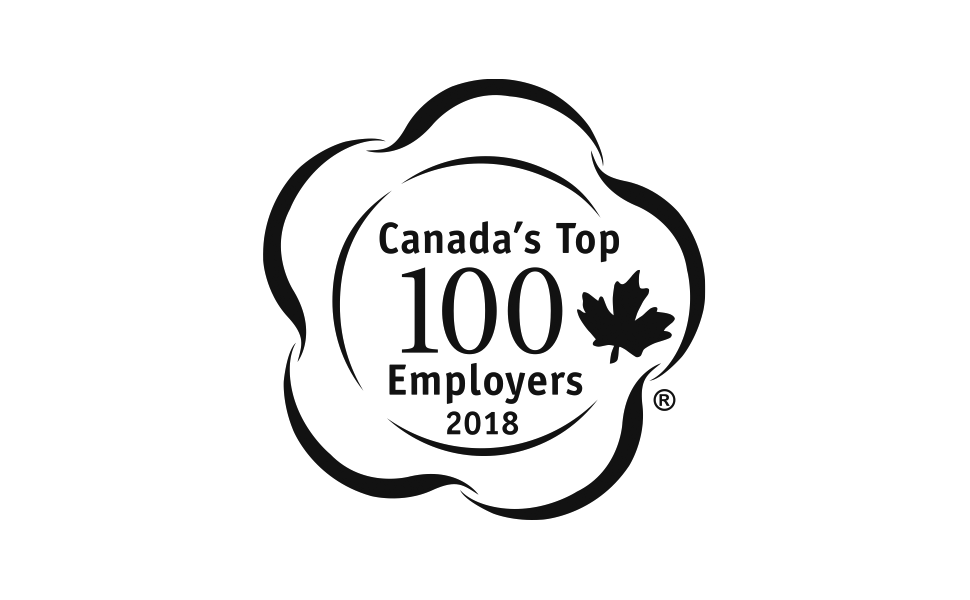 Canada's Top 100 Employers 2018 award
