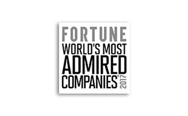 Fortune World's Most Admired Companies 2017 award