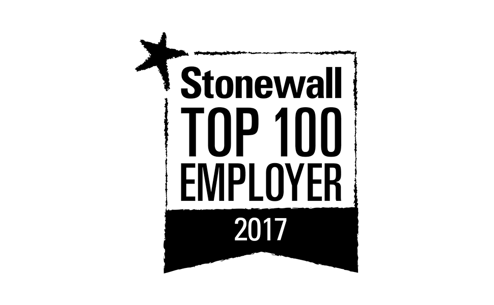 Stonewall Top 100 Employer United Kingdom 2017 award
