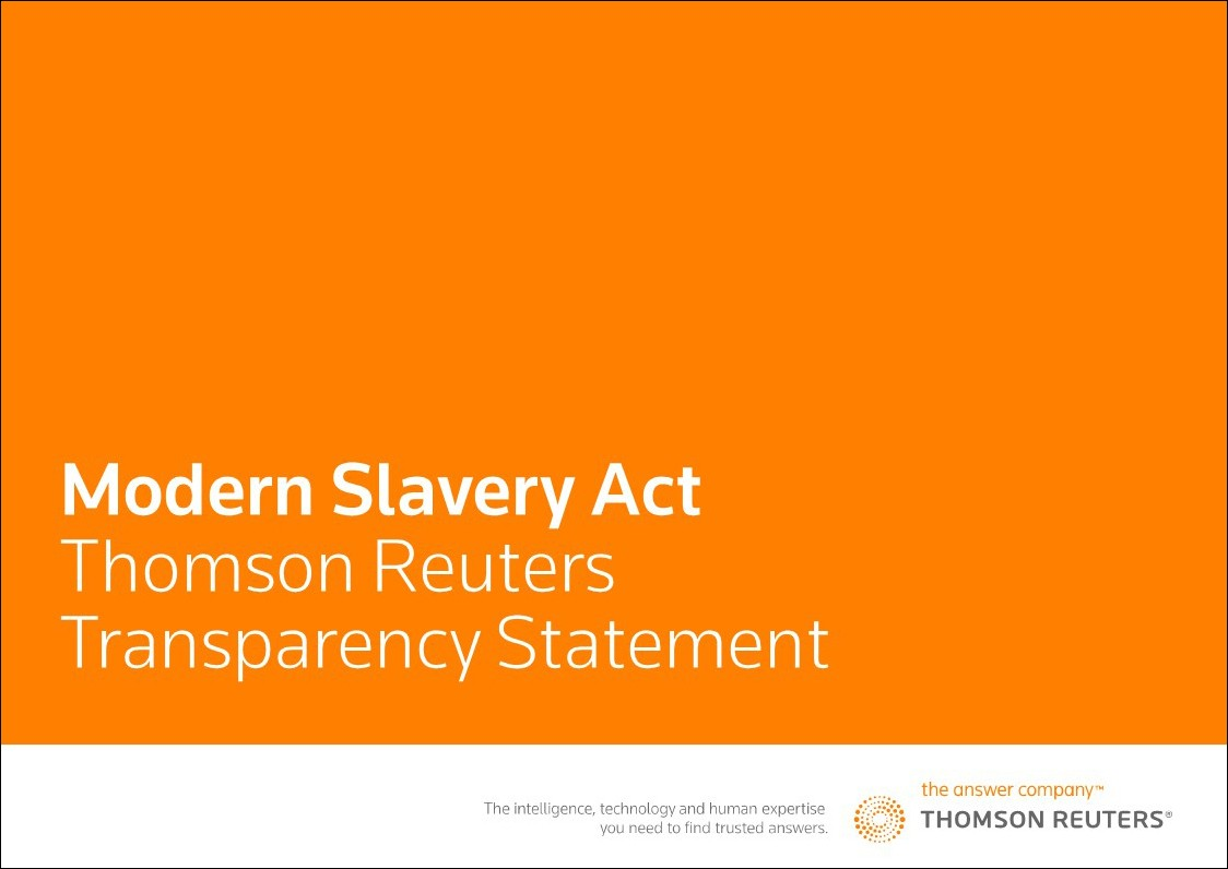 Modern Slavery Transparency Act