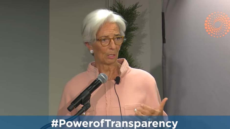 The Power of Transparency to Increase Economic Resilience -- Christine Lagarde