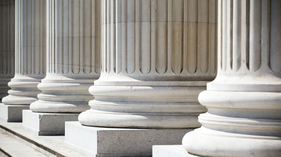 Pillars in a row