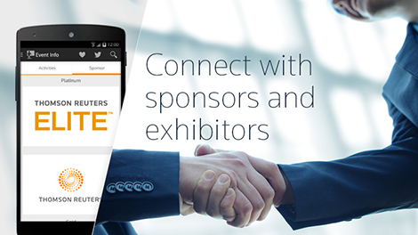 Connect with sponsors and exhibitors