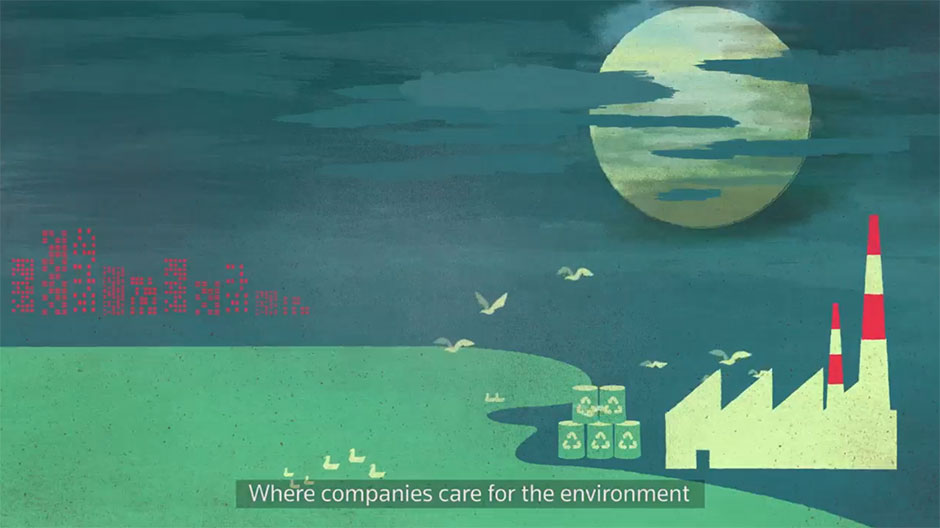 Imagine a world where we can be who we want to be, where companies care for the environment…