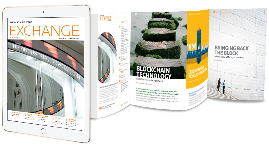 Thomson Reuters Exchange magazine on the Know 360 app