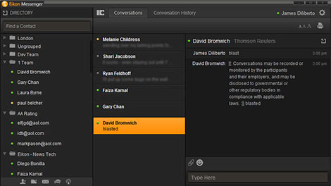 Eikon messenger chat capabilities