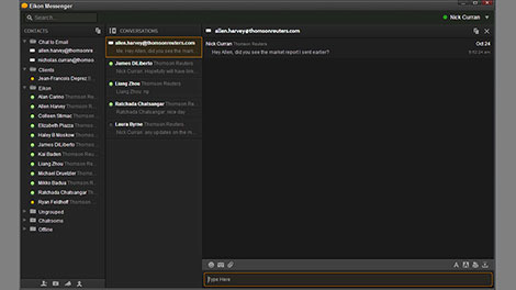 Eikon Messenger cat to email capabilibies