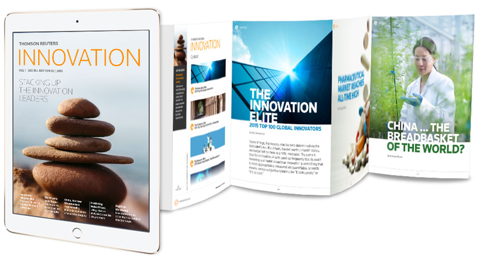 Thomson Reuters Innovation magazine on the Know 360 app