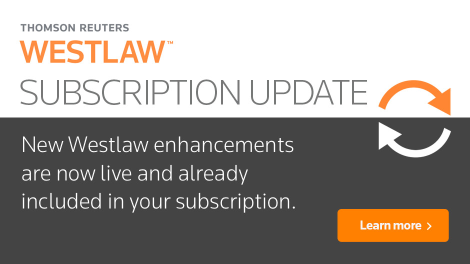 Westlaw Subscription Update