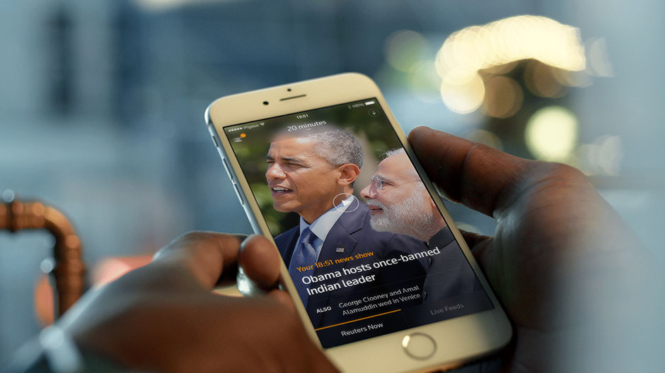 Reuters TV App - customizable mobile video news