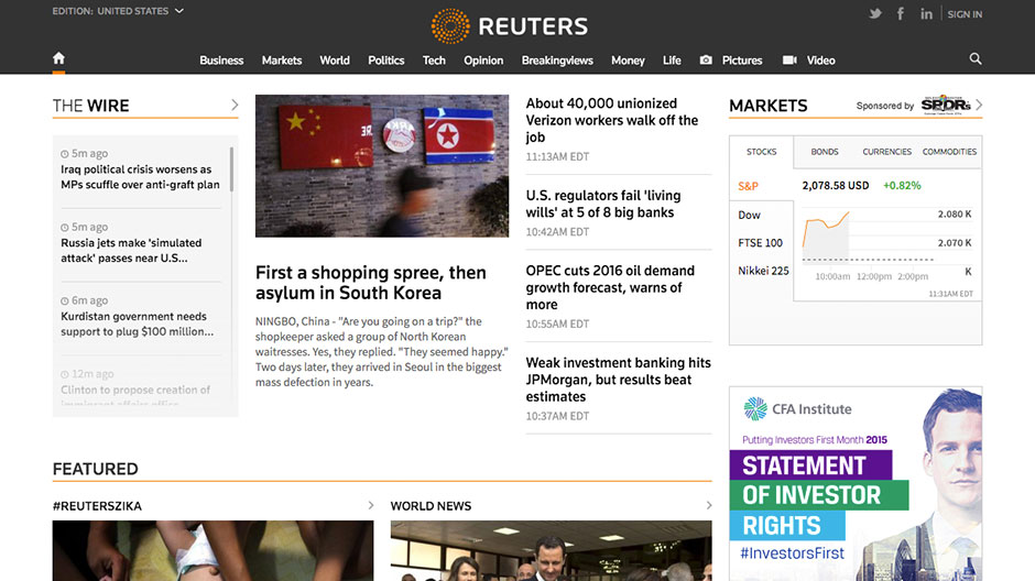 Discover a bolder and more streamlined Reuters.com homepage
