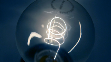 A traditional light bulb with carbon filament is displayed at a do-it-yourself store in Dortmund August 31, 2009.