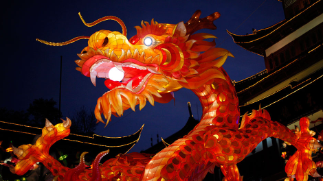 A dragon lantern is seen at Yuyuan Garden in downtown Shanghai January 17, 2012.