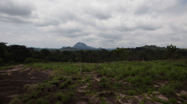 General view of the landscape near the town of Koidu in eastern Sierra Leone, April 22, 2012.