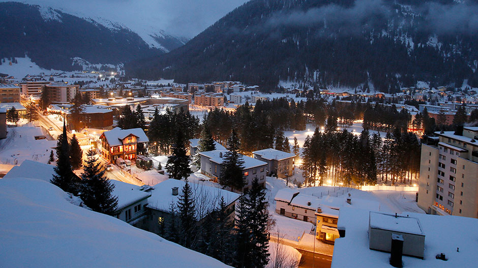 A general view of the city of Davos, the Congress Hall venue of the World Economic Forum (WEF) January 21, 2013.
