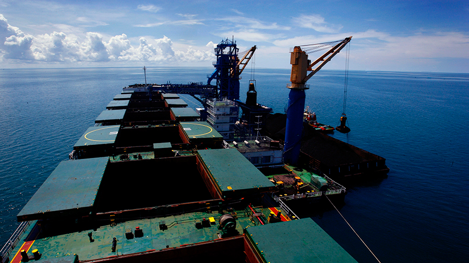 Coal produced by Berau Coal is being loaded onto a ship in Indonesia's East Kalimantan province August 17, 2010.