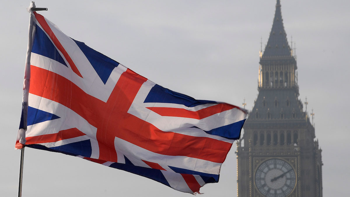 A Union flag flies in front of the Big Ben clock tower in London, Britain, January 23, 2017.